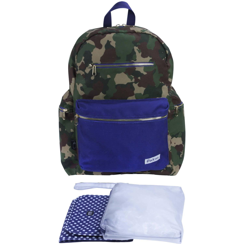 iPack Baby Diaper Bag Backpack, Camo