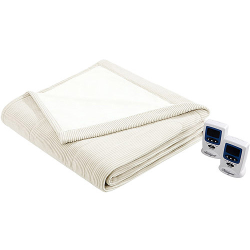 Beautyrest Heated Ribbed Microfleece Blanket