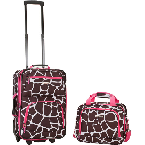 Rockland Luggage Rio 2 Piece Carry On Luggage Set, Multiple Colors