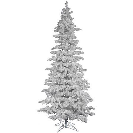 "PUnlit 7.5' x 43"" White Slim Artificial Christmas Tree ..."