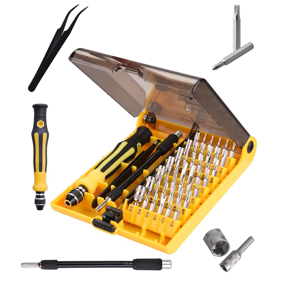 45in1 Torx Precision Screw Driver Set Mobile Flexible Kit for Cell Phone Laptop Pad ETC Repair Tool