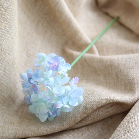 Artificial Silk Fake Flowers Peony Floral Wedding Bouquet Bridal Hydrangea (Blue Floral Bouquet)