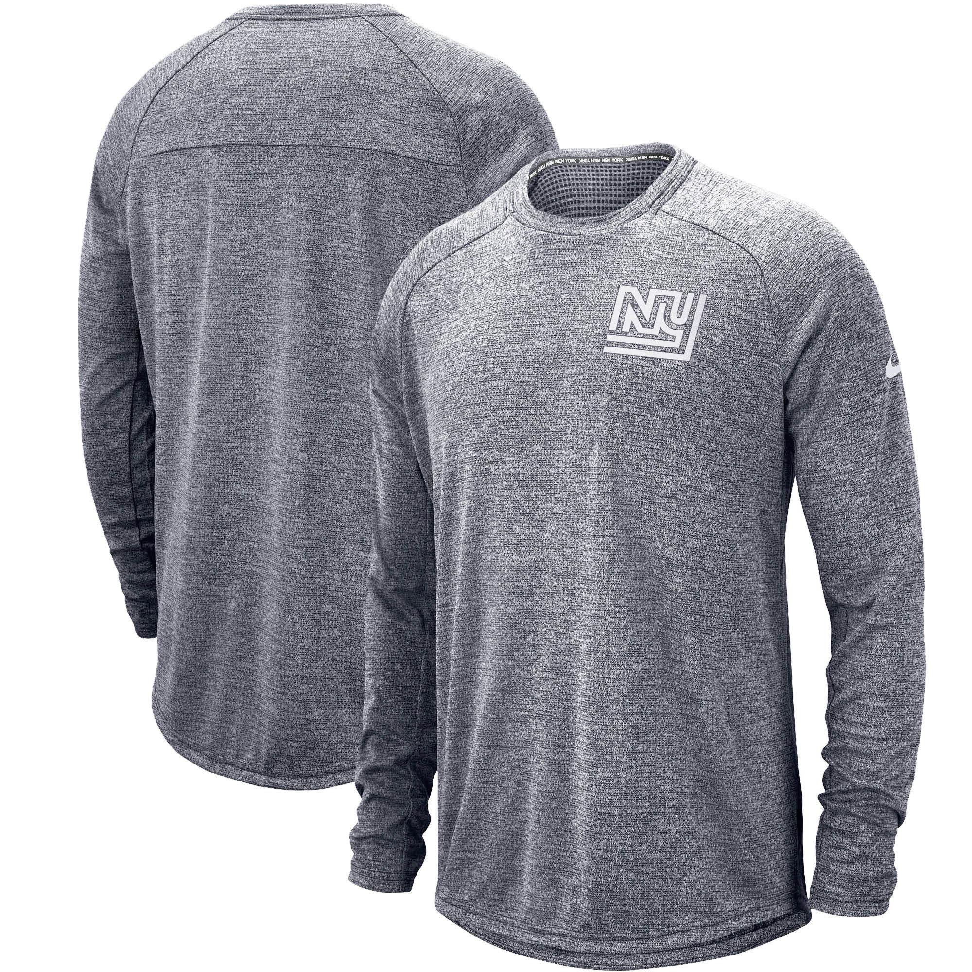 New York Giants Nike Fan Gear Stadium Throwback Long Sleeve T-Shirt - Navy