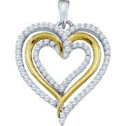 Gold and Diamonds GIP3642-W 0. 40CT-DIA HEART PENDANT- Size 7