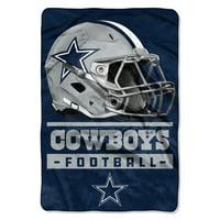 "NFL Dallas Cowboys Sideline Oversized Micro Raschel 62"" x 90"" Throw Blanket, 1 Each"