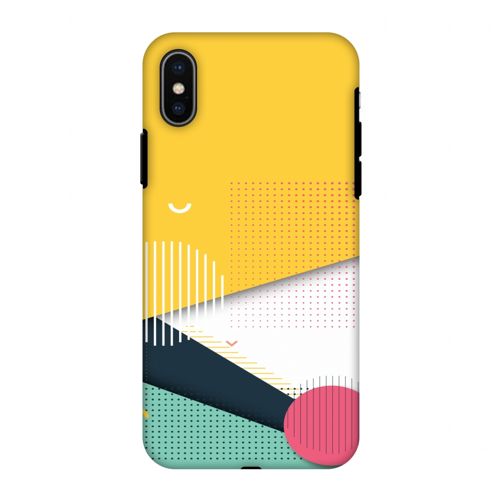 iPhone X Case, Premium Heavy Duty Dual Layer Handcrafted Designer Case ShockProof Protective Cover with Screen Cleaning Kit for iPhone X - Dots And Stripes, Flexible TPU, Hard Shell