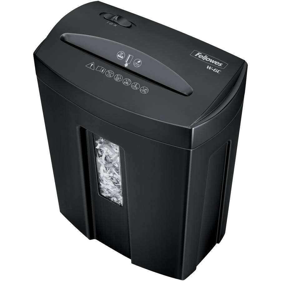 Fellowes Powershred W-6C 6-Sheet Cross-Cut Household Paper Shredder