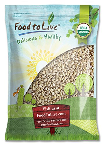 Food To Live ® Organic Pine Nuts / Pignolias (12 Pounds)