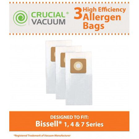 3 Bissell Style 1, 4, 7 Paper Bags, Part # 30861 - image 1 de 1