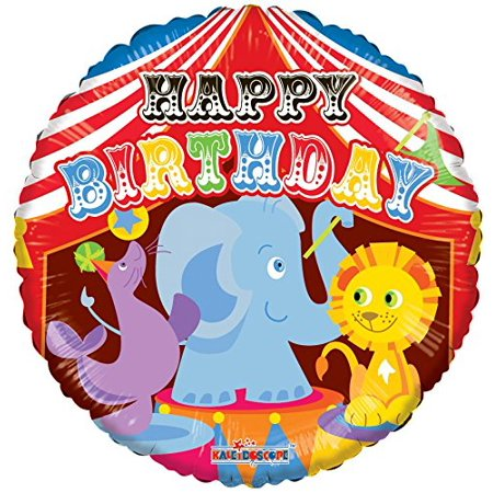 Kaleidoscope Happy Birthday Circus Foil Mylar Balloon, 5 Piece