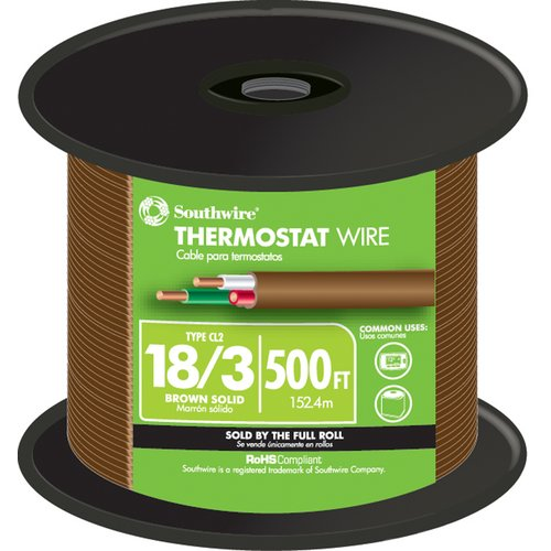 Southwire 6000'' 18 Gauge 3 Wire Thermostat Wire (Set of ...