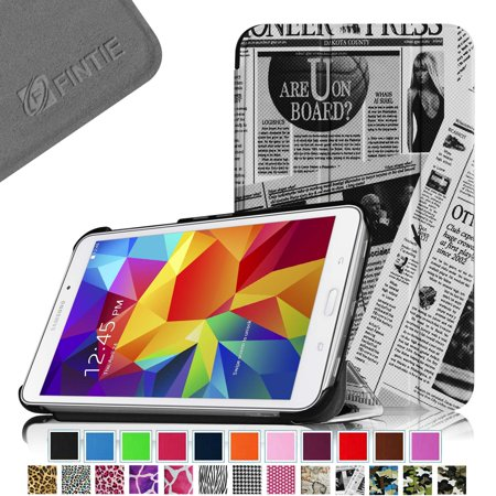 Samsung Galaxy Tab 4 8 0 Case   Fintie Smart Shell Ultra Slim Lightweight Stand Cover With Auto Sleep Wake  Newspaper