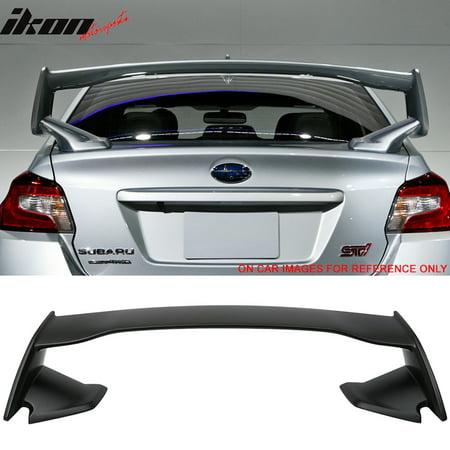 Sti Trunk - Fits 15-19 Subaru WRX OE STI Style ABS Unpainted Rear Trunk Spoiler Wing