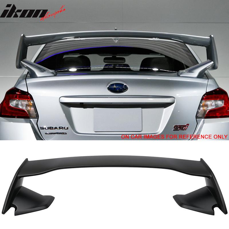 Fits 15-18 Subaru WRX OE STI Style ABS Unpainted Rear Trunk Spoiler Wing