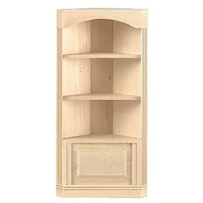 Houseworks dollhouse miniature three-shelf corner bookcase