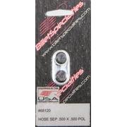 """Billet Specialties Polished Hose Separator 0.500 in/0.500"""" Holes P/N 68120"""