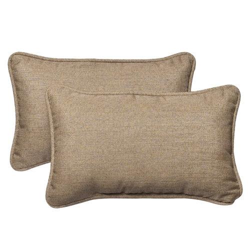 Pillow Perfect Outdoor Sunbrella Lumbar Pillow (Set of 2)