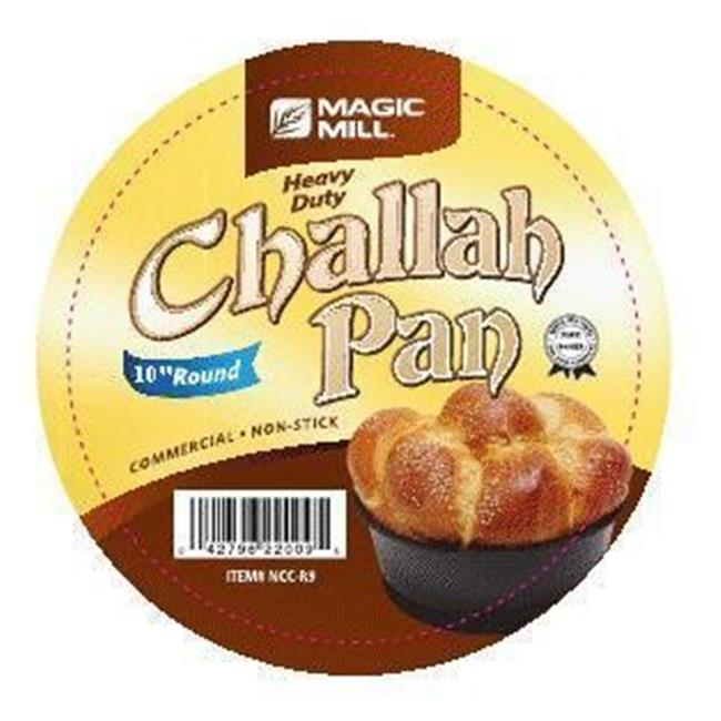 Magic Mill NCCR10 10 in. Round Challah Pan, Non Stick by Magic Mill
