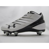 New Under Armour Iso ll Mid MC D Football Cleat Mens Size 8 Wht/Blk