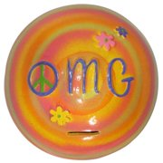 Metrotex Designs Girly Chic ''''OMG'''' Piggy Bank