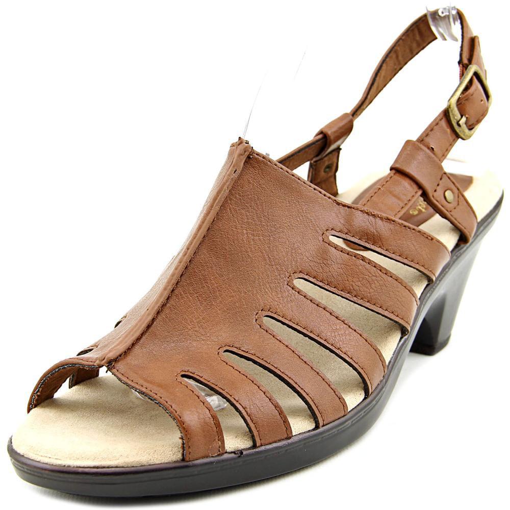 Easy Street Kacia Women Open-Toe Synthetic Brown Slingback Sandal by Easy Street