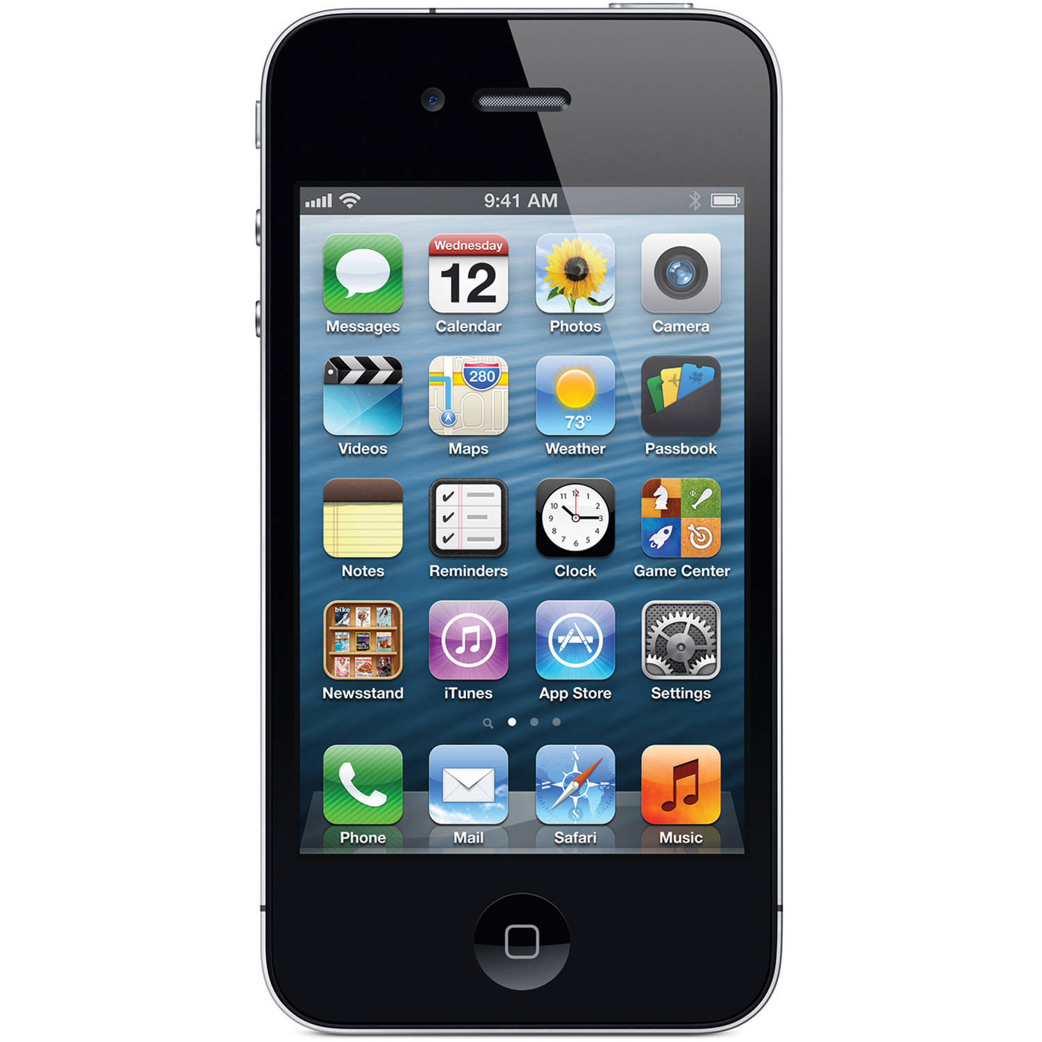 Straight Talk Certified Pre-Owned 8GB Apple iPhone 4 Smartphone with $45/30-Day Plan, Black