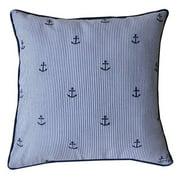 A1 Home Collections Carla Striped Anchor Throw Pillow