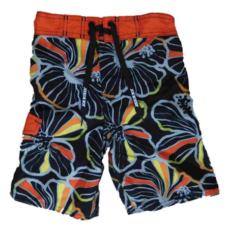 8926b31ca3c Joe Boxer - Boys Black Hawaiian Tropical Cargo Swim Trunks Board Shorts -  Walmart.com