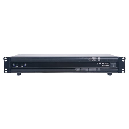 Sound Town Professional Class-D Dual-Channel, 2 x 1350W at 4-ohm, 6000W Peak Output Power Amplifier (STA-D6000)