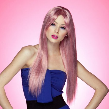 Blush Divine Fantasy Style Synthetic Wig - Pink Venom ()