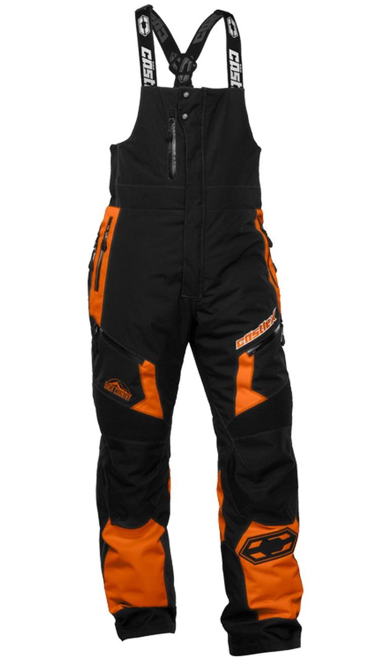 Castle X Racewear Tundra Mens Snowmobile Bib Orange by
