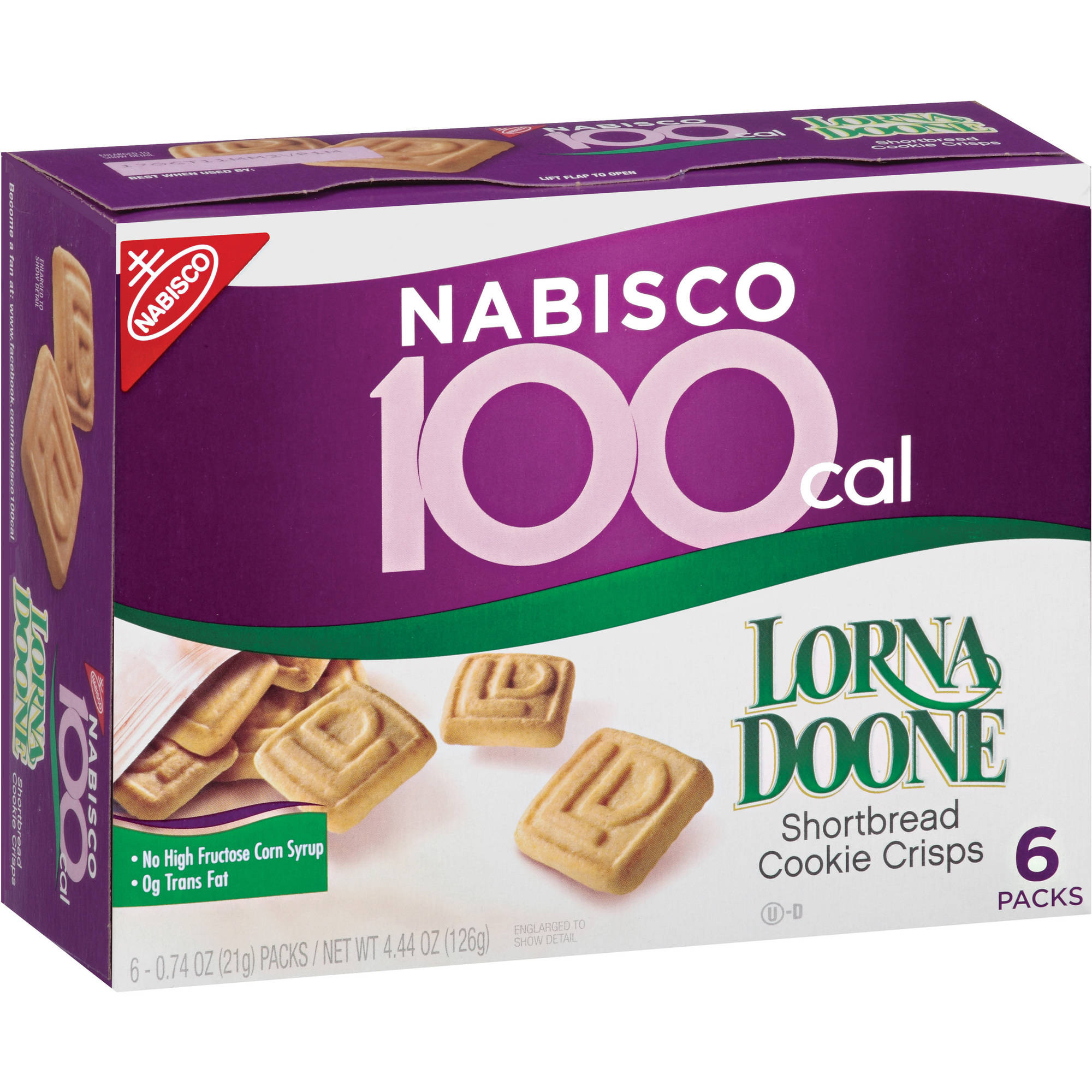 Nabisco 100 Cal Lorna Doone Shortbread Cookie Crisps 6 x 0.74oz (4.44oz)