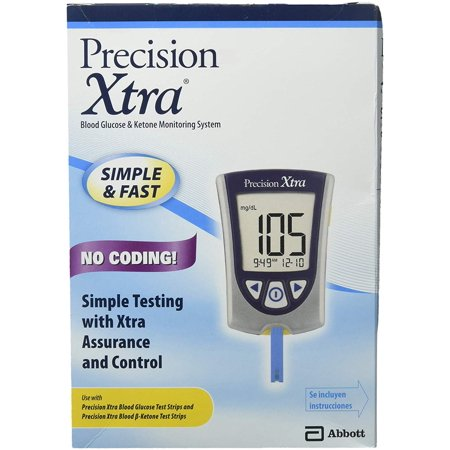 Precision Xtra Blood Glucose Meter Kit, Results in 5 seconds, Strips Not Included (1 Kit)