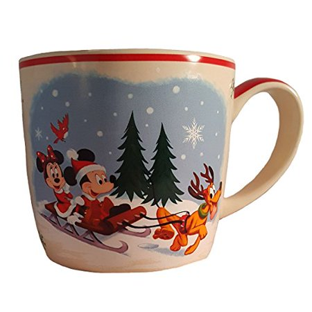 Mickey Mouse  Minnie Mouse And Pluto Home For The Holidays Christmas Disney Parks Mug