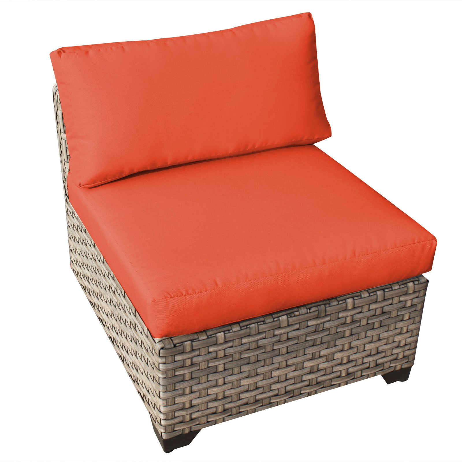 TK Classics Monterey Outdoor Middle Chair with 2 Sets of Cushion Covers