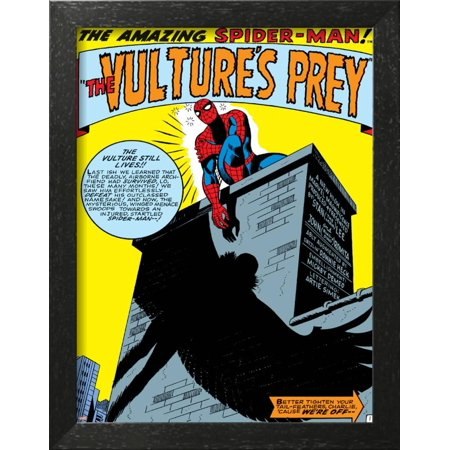 Marvel Comics Retro: The Amazing Spider-Man Comic Panel, the Vulture's Prey  Framed Poster Wall Art
