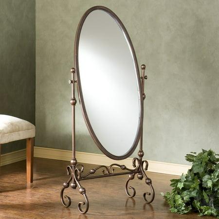 Lourdes Cheval Mirror Material Metal Size 24  W X 14  L X 56 75  H
