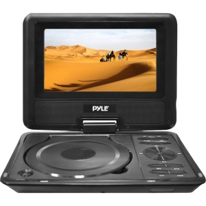9-in Widescreen High Resolution Portable Monitor w/ Built-in Multimedia Disc  MP3  MP4 Players  USB Port & SD Card Slot Readers