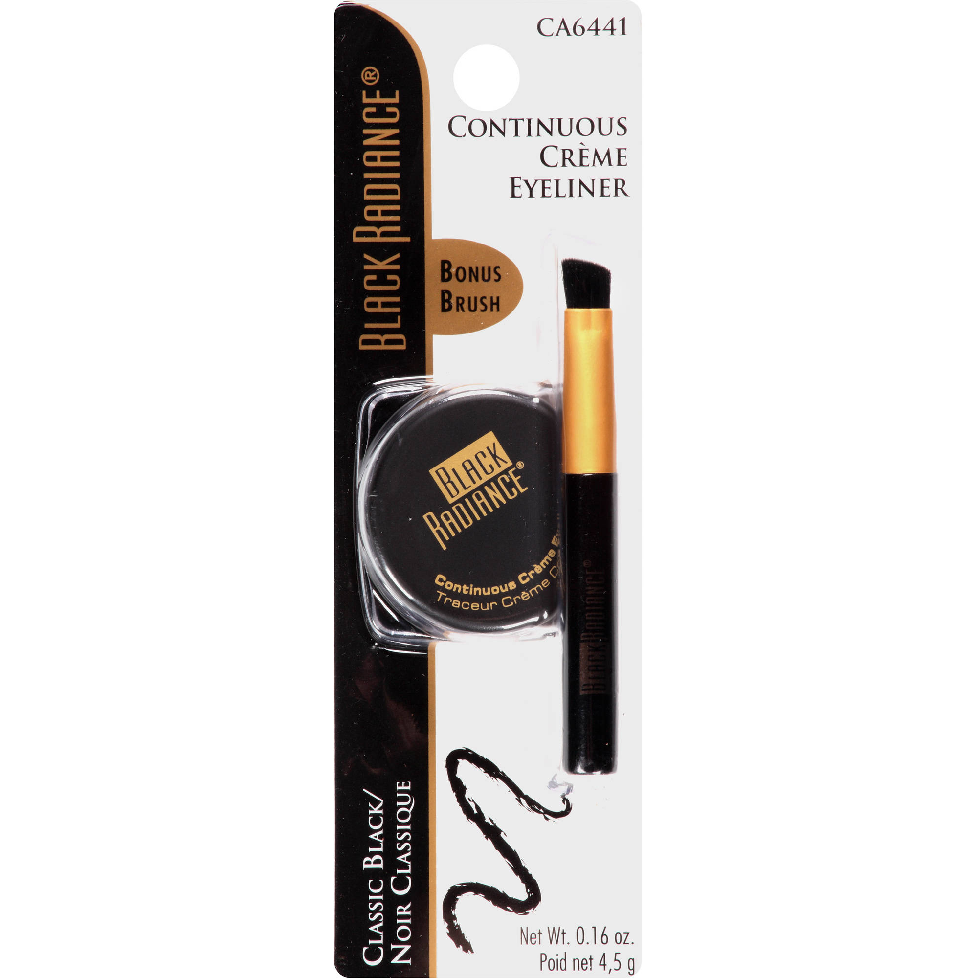 Black Radiance Continuous Creme Eyeliner, CA6441 Classic Black, 0.16 oz