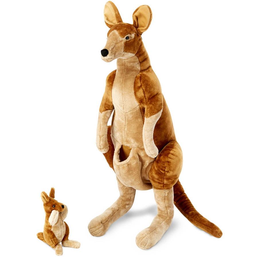 Melissa Doug Giant Kangaroo And Baby Joey In Pouch Lifelike
