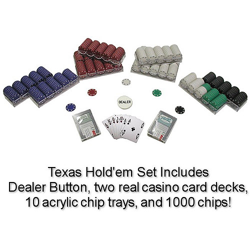 Trademark Poker 1000 Suited 11.5 Gram Poker Chips Texas Hold'Em Set
