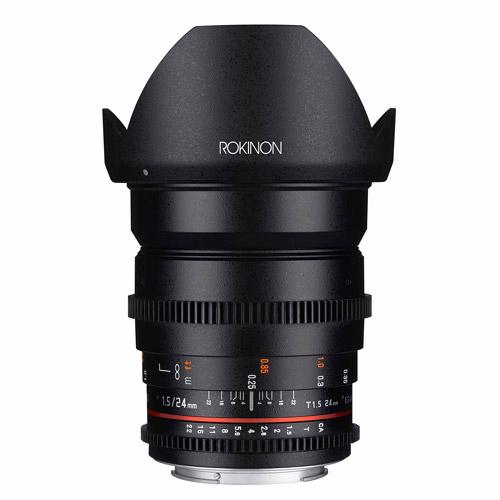 ROKINON 24mm T1.5/f1.4 Cine Wide-Angle Lens for Sony E-Mount Cameras
