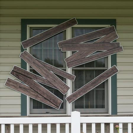 Halloween Window Boards, Set of 4 - Boarded Up Windows For Halloween