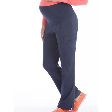 (Med Couture 'Activate' Knit Waist Maternity Pant Scrub Top)