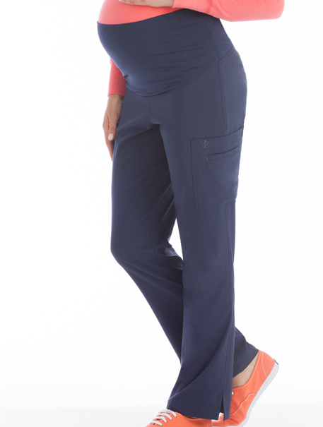 Med Couture 'Activate' Knit Waist Maternity Pant Scrub Top