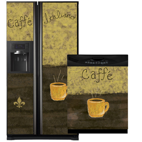 Appliance Art Caffe Side by Side Refrigerator and Dishwasher Cover