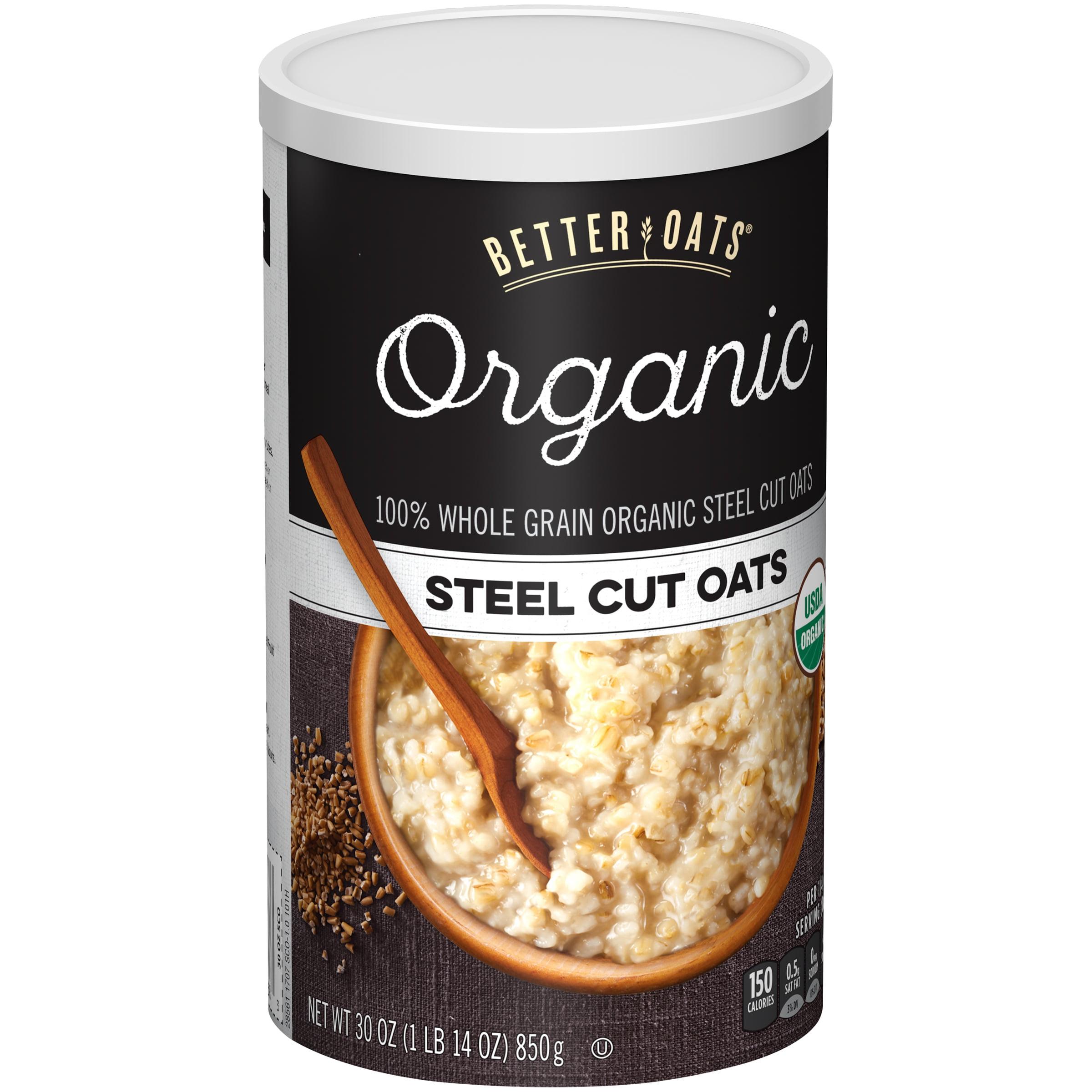 Better Oats® Organic Steel Cut Oats 30 oz. Canister