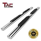 """TAC Side Steps for 2007-2019 Toyota Tundra Double Cab Truck Pickup 5"""" Oval Tube T304 Stainless Steel Side Bars Nerf Bars Running Boards"""