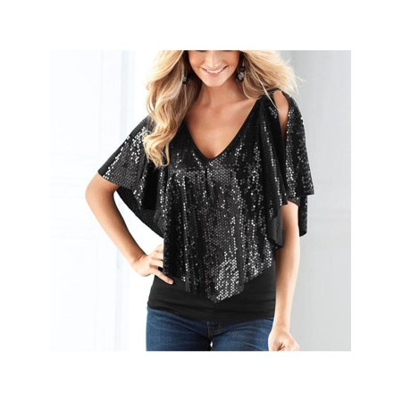 Women Sequin Sparkle Glitter Tops Tank Short Sleeve T-Shirt - Sparkle Skirts Discount Code