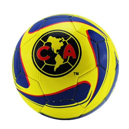 Club America Tornado Soccer Ball Size 5 (Navy Yellow), Ball Size 5 By Rhinox by